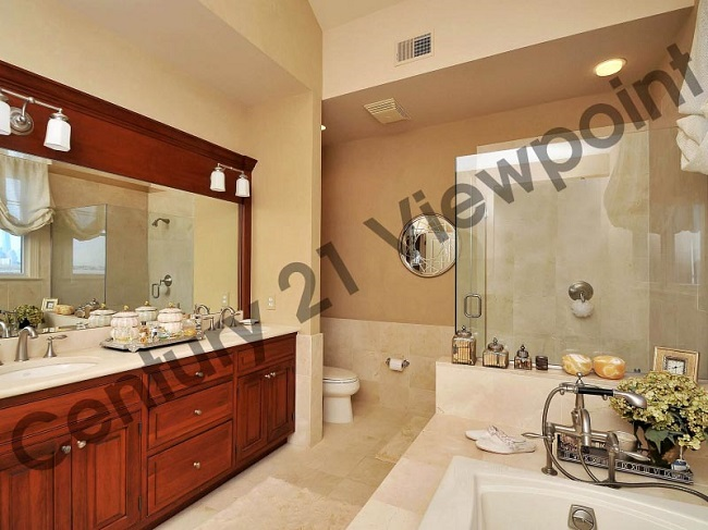 elegant master bathroom in a home for sale in port liberte