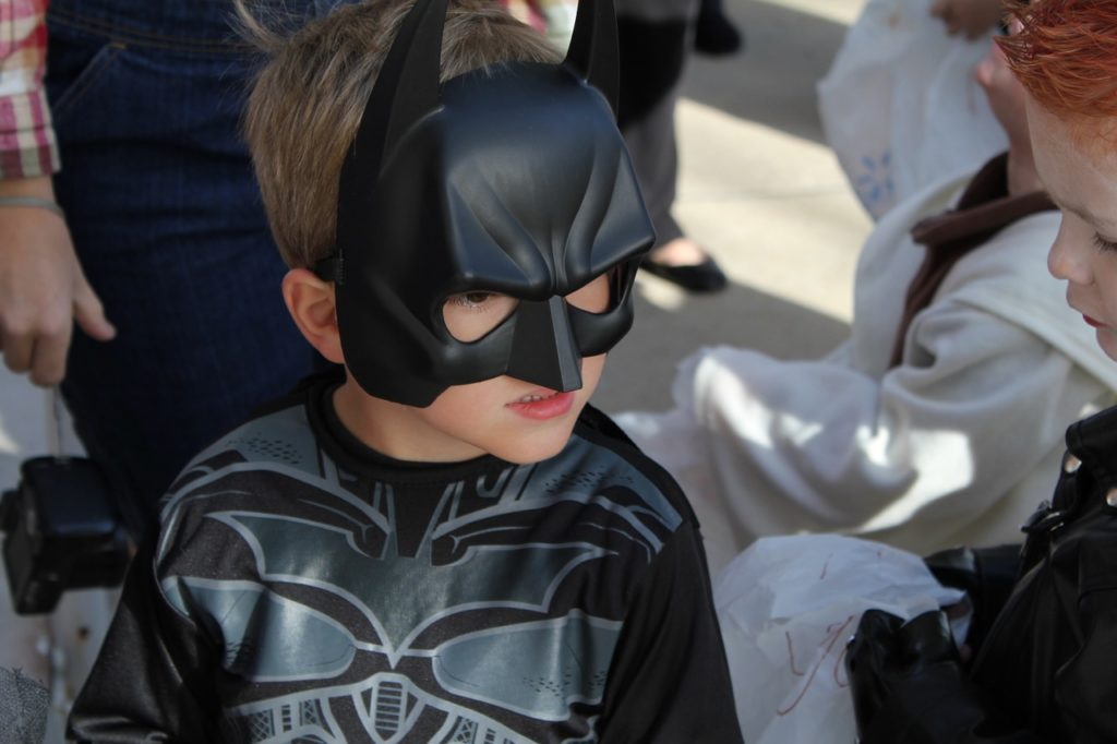 boy in a batman costume
